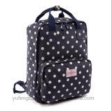 Ретро флористическая холстина Backpack кладет мешок в мешки Yf-Lb1698 компьтер-книжки плеч Backpack модного мешка водоустойчивый