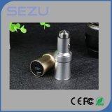 Alavanca de cigarro Carregador de carro USB com purificador de ar Martelo de segurança 2 em 1 carregador de carro