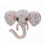 Broche de bijou de mode d'éléphant de Rhinestone