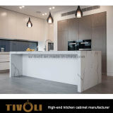 Armadi da cucina chiari di disegno dei Governi di parete della cucina del LED Tivo-0156V