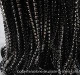 銃金属の爪のラインストーンの真鍮のコップの鎖のラインストーンの鎖(TCG-SS10漆黒)