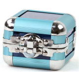 Mini caja de joyería de acrílico transparente con varios colores