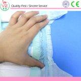 Fralda de bebê sonolento descartável de superfície seca