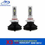 フィリップスZes LEDチップが付いている新しい世代X3 3000lm 9012 H7 H11 H4車LEDのヘッドライト6000K