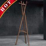 Beech revestidos pano de madeira portátil cubra o Rack de roupas