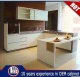 Modern Mini Mini Flat Flat Kitchen Gabinete Designs com pedra de bancada