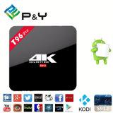 Neue TechnologieAndroid 6.0 Octa Kern 2GB Fernsehapparat-Kasten 17.0 DES RAM-5g WiFi Kodi Amlogic S912 T96 PRO