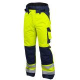 Il lavoro riflettente di sicurezza degli alti uomini di visibilità ansima i pantaloni del carico