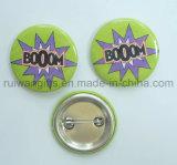 Значок кнопки эмблемы 44mm квадратный выдвиженческий, значки Pin пластмассы задние (PBB005)