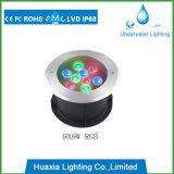 9W multi Tiefbaulicht der Farben-LED
