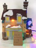 Résine de bonne qualité Maison de Noël LED pour Deco
