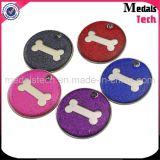Anodizado Alumínio Custom Metal Tags para cães Tags para animais de estimação