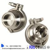 1.5 en acero inoxidable embridado sanitario de la válvula de verificación 304 Ss316L