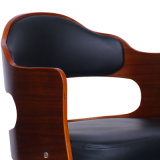 Het Leer Okkernoot Gefineerde Bentwood Barstool van Faux