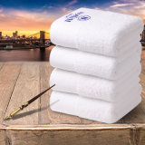 Tovagliolo bianco del cotone del ricamo usato hotel della stella di alta qualità