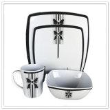 Комплект Dinnerware высокого качества 4PCS конструкции Европ ломкий