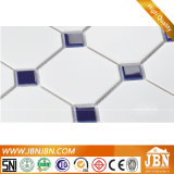 Mosaico di ceramica in bianco e nero per la parete della stanza da bagno (C655143)
