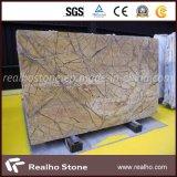 Lastre e mattonelle di marmo del Brown della foresta pluviale di marmo di Indain per il controsoffitto e la parete