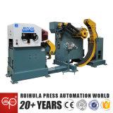 Nc que introduce nivelando la máquina y Uncoiler (servo 3 en 1) para la máquina de la prensa (MAC4-400)