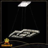 Retro kundenspezifisches Kristallhängendes Licht des Edelstahl-LED (KA10098-860*370)