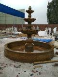Colore giallo & mano del Brown Grantie che intaglia fontana (SY-F301)