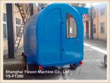 Ys-FT290 Blue 2.9m Mobile Kitchen Car Ice Cream Trailer avec système de freinage