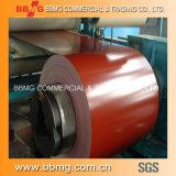 bobina d'acciaio ricoperta /Color galvanizzata a strati preverniciata di 0.35mm /PPGI con Z30g per il tetto del metallo