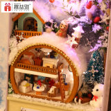 2017 Venta caliente hermoso juguete de madera DIY Dollhouse