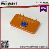 Doppelband-CDMA/UMTS 850/2100MHz mobiles Signal-Verstärker der Qualitäts-mit Antenne