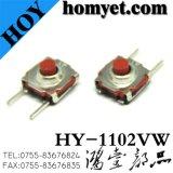 Deux pieds longs Presse latérale Type DIP Interrupteur tactile horizontal