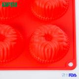 Flexible en silicone de qualité alimentaire des ustensiles de cuisson robuste série 6tasses bac gâteau Pan