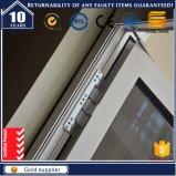 Prix de gros glacé par double du guichet en aluminium de tissu pour rideaux