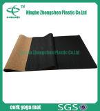 Natuurlijke Cork en de RubberDouane Afgedrukte Cork van de Mat van de Yoga Mat van de Yoga Slip