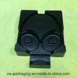 Plateau noir moyen d'emballage d'ampoule pour l'écouteur