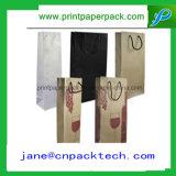 Bolsa de papel de Kraft del portador del bolso del regalo de las bolsas de papel del OEM