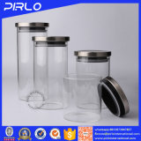 金属またはタケまたは木のふたが付いている高いホウケイ酸塩の気密のガラス瓶
