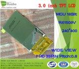 3.0 visualizzazione larga dell'affissione a cristalli liquidi di vista personalizzata 39pin TFT di pollice 240X400 MCU 18bit