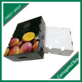 Contenitori variopinti di frutta del basso e dell'alto