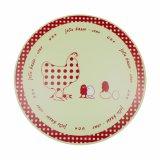 Placa de plástico redonda de impressão para mesa e decorações