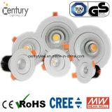 15W LEDs가 중립 백색 90mm 배기판 옥수수 속에 의하여 아래로 점화한다