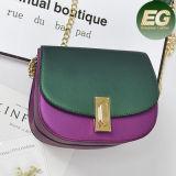 Handtas van de Kleur van het Contrast van de Zak Pu van de Schouder van de Aankomst van de Prijs van de fabriek de Goedkope Nieuwe met Ketting voor Dames Sy8175
