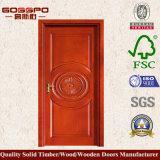 Hölzerne einzelne Tür mit Blume konzipiert (GSP2-022)