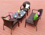 Combinaison extérieure de jardin de balcon de villa d'hôtel de Tableau et de présidences de rotin du rotin Sofa/PE de PE