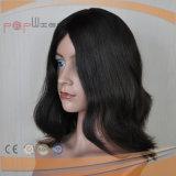 Schwarzes Haar-schöne Dichte-heiße Form-Frauen-Hand gebundene Spitze-Perücke