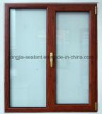 Doppeltes glasig-glänzendes Windows-Aluminiumrahmen-schiebendes Glasfenster mit Moskito-Netz