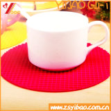 Coaster en silicone personnalisé pour cadeaux promotionnels (YB-n-002)