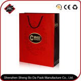 Bronzage du sac de empaquetage de papier de cadeau portatif