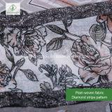 100% Viskose-Diamant-Streifen gedruckte Schal-Form-Dame Moslem Scarf
