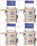 Le chariot de chariot à anesthésie d'ABS pour livrent avec dessine avec l'étiquette Gt-Taq1301 de carte