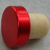 أحمر [فودكا] زجاجة ألومنيوم غطاء مادّة اصطناعيّة فلّين